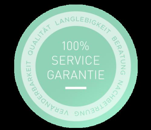Die 100% Service Garantie, immer inklusive.